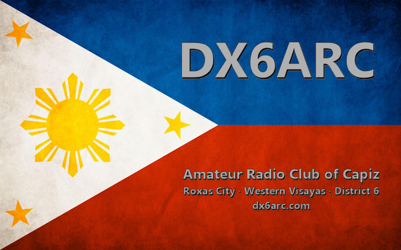 DX6ARC - Amateur Radio Club of Capiz - dx6arc.com
